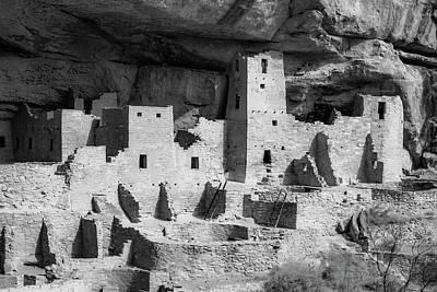 Photograph - Mesa Verde National Park - Colorado Monochrome by Gregory Ballos