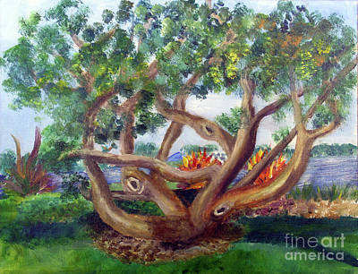 Painting - Mesmerizing Tree by Donna Walsh