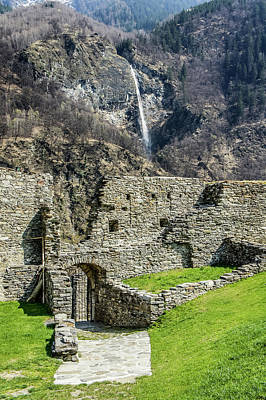 Photograph - Mesocco Castle Gate With Waterfall by Dawn Richards