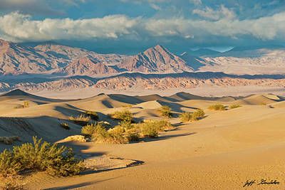Photograph - Mesquite Flat Sand Dunes At Sunset by Jeff Goulden