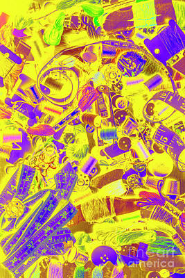 Pop Art Royalty-Free and Rights-Managed Images - Messy desk - Best dressed by Jorgo Photography - Wall Art Gallery