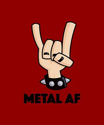 Royalty-Free and Rights-Managed Images - Metal AF Devil Horns by John Schwegel