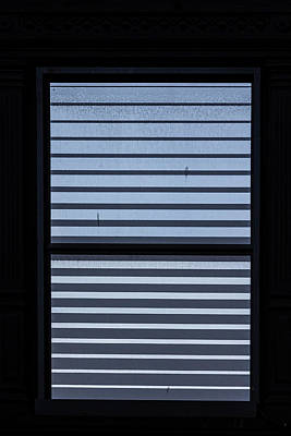 Photograph - Metal Window Blinds by Robert Ullmann
