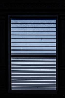 Photograph - Metal Window Blinds by Robert Ullmann
