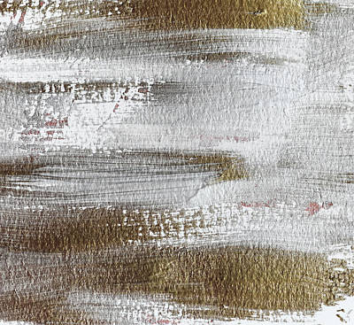 Photograph - Metallic Abstract Painting 3 #texture #minimalism by Andrea Anderegg