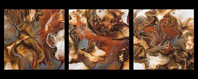 Painting - Metallic Magic Triptych By Teresa Wilson  by Teresa Wilson