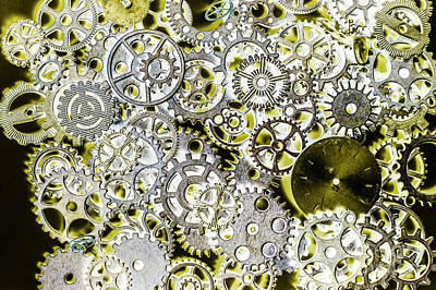 Tools Photograph - Metallic Motor Mechanisms by Jorgo Photography - Wall Art Gallery