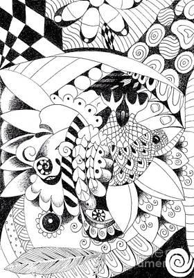 Drawing - Metamorphosis 2 by Helena Tiainen