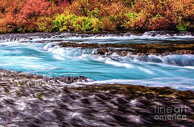 Photograph - Metolius River, Autumn Wall Art, Fall Foliage Prints, Fall Wall Art, Fall Leaves Wall Art, by David Millenheft