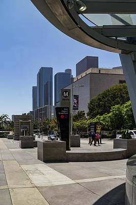 Wall Art - Photograph - Metro Station Civic Center Los Angeles by Roslyn Wilkins