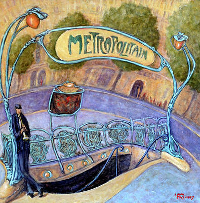 Painting - Metropolitain- Paris by Linda Mccluskey