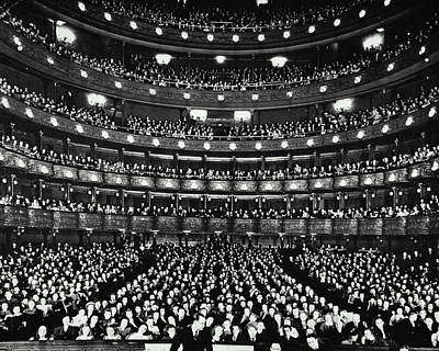 Balcony Photograph - Metropolitan Opera House by Archive Holdings Inc.