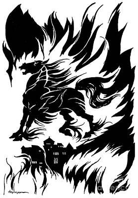 Drawing - Metzengerstein By Edgar Allan Poe by Arthur Rackham