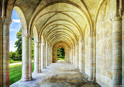Photograph - Meuse Argonne American Cemetery Memorial Loggia - Short Vintage by Weston Westmoreland