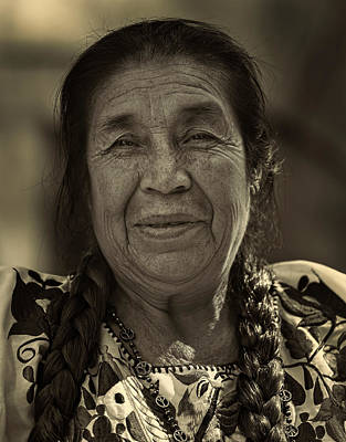 Photograph - Mexican Day Parade Nyc 9_16_2018 Elderly Mexican Woman by Robert Ullmann