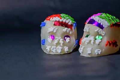 Photograph - Mexican Sugar Skulls by Miriam Bade