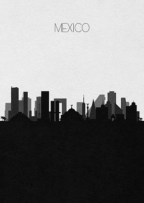 Digital Art - Mexico Cityscape Art by Inspirowl Design