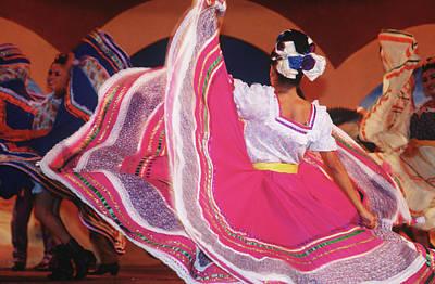 Photograph - Mexico, Local Dancers Perform Folk Dance by Chris Cheadle