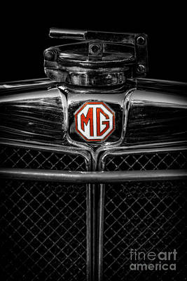 Photograph - Mg Grill Badge by Adrian Evans