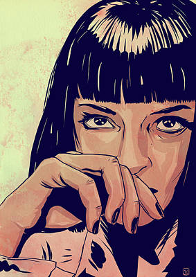 Drawing - Mia Wallace by Giuseppe Cristiano