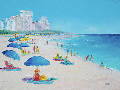 Painting - Miami Beach Umbrellas by Jan Matson