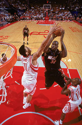 Photograph - Miami Heat V Houston Rockets by Andrew D. Bernstein