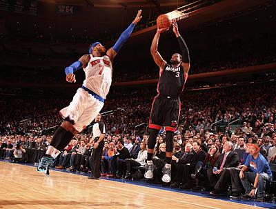 Photograph - Miami Heat V New York Knicks by Nathaniel S. Butler