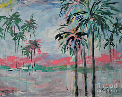 Painting - Miami Palms by Kristen Abrahamson