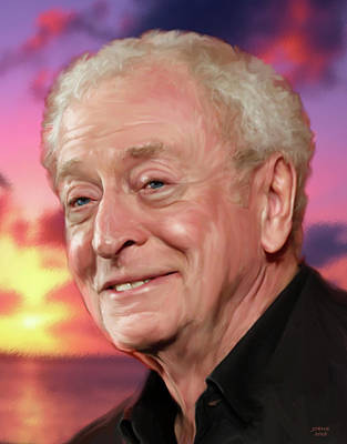 Drawings Royalty Free Images - Michael Caine Royalty-Free Image by Greg Joens