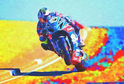 Mixed Media - Michael Dunlop  tt racer by David Ridley