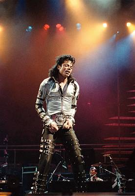 Photograph - Michael Jackson Bad World Tour by Jim Steinfeldt