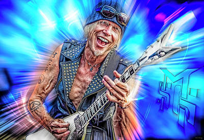 Royalty-Free and Rights-Managed Images - Michael Schenker by Mal Bray