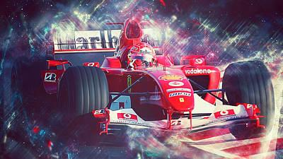 Painting - Michael Schumacher, Ferrari - 21 by Andrea Mazzocchetti