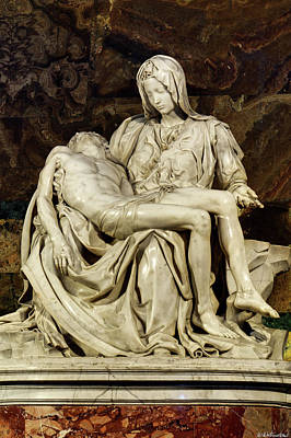 Photograph - Michelangelo La Pieta Closer by Weston Westmoreland