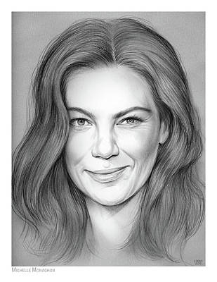 Drawing - Michelle Monaghan by Greg Joens