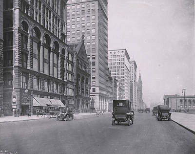 Photograph - Michigan Ave., North From Congress by Chicago History Museum