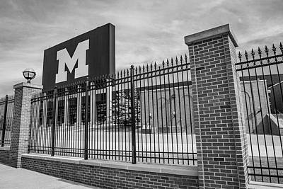 Photograph - Michigan Fence And Big House  by John McGraw