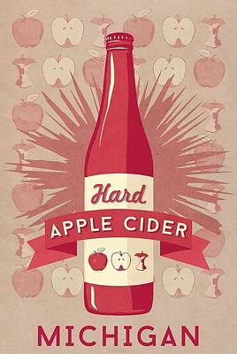 Hard Cider Wall Art - Painting - Michigan  Hard Apple Cider Wall Art by Lantern Press