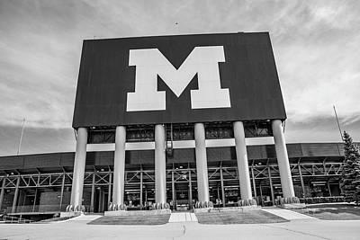 Photograph - Michigan Stadium M by John McGraw