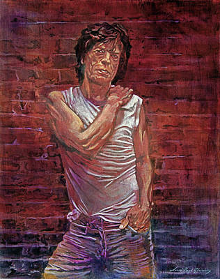 Painting - Mick At The Wall by David Lloyd Glover
