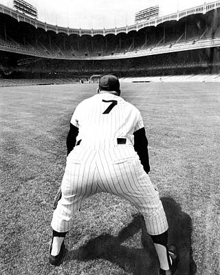 Photograph - Mickey Mantle Works Out At Yankee by New York Daily News Archive