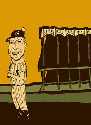 Athletes Mixed Media - Mickey Mantle Yankee Stadium by Jay Perkins