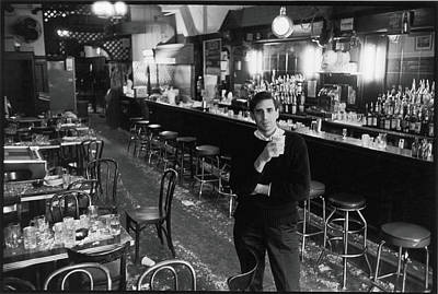 Pub Photograph - Mickey Ruskin In The Annex by Fred W. McDarrah