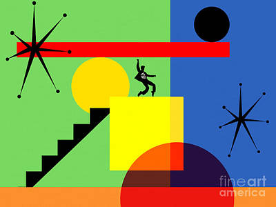 Digital Art - Mid Century Modern Abstract Elvis 20190106 Horizontal by Wingsdomain Art and Photography