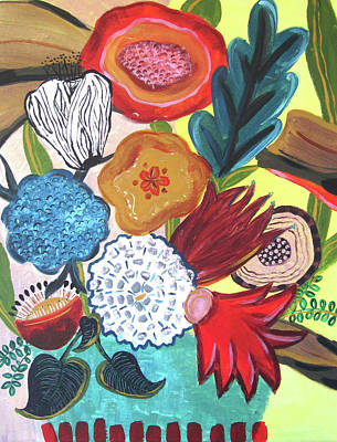 Wall Art - Painting - Mid Mod Floral  by Kaley Alie