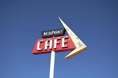 Kitchen Mark Rogan - Mid Point Cafe Sign by Deborah Ritch