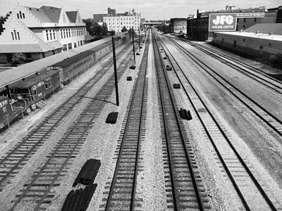 Middle Of The Tracks Art Print
