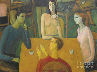 Painting - Middle Table Meeting by Glenn Quist