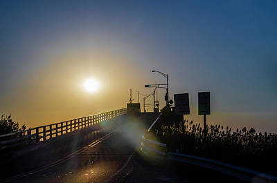 Photograph - Middle Thorofare Bridge At Sunrise - Cape May by Bill Cannon