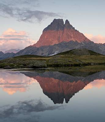 Photograph - Midi D'ossau Reflection by Stephen Taylor